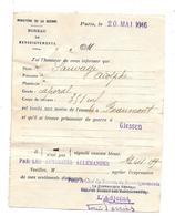 CARTE LETTRE EN FRANCHISE - AVIS DE CAPTURE D'un POILU Campagne De VERDUN à BEAUMONT Pour  Camp De GIESSEN 1916 - Postmark Collection (Covers)