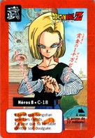 Carte Dragon Ball Z Carddass-Bandai 1995 Héros 8 - C-18 Tournoi Tournament En TB.Etat - Dragonball Z