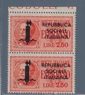 1944 REPUBBLICA SOCIALE MNH**ITALIEN  ITALY ESPRESSO 2,50 Coppia - Nuovi