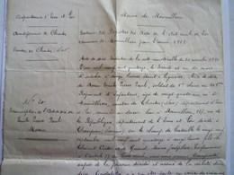 GP 2019 - 1179  MAINVILLIERS  (Eure-et-Loir)  :  Transcription De L'acte De Décès De Emile Pierre Paul MORIN  1915   XXX - Old Paper