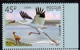 RUSSIA, 2019, MNH, EUROPA, BIRDS, 1v - 2019