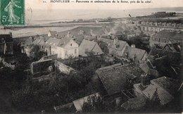 HONFLEUR ( 14 )  - Panorama Et Embouchure De La Seine , Pris De La Cote . - Lisieux