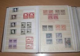 (24 Scans) BRIEFMARKEN STECKALBUM Mit ÖSTERREICH Um 1945-1947 (Postfrisch ** Viele Viererblöcke Mit Randstücke .... - Sammlungen