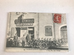 Thonon Les Bains Ateliers De Cycle Automobile DEGENEVE - Thonon-les-Bains