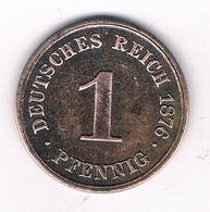 1 PFENNIG 1876 C DUITSLAND /4041/ - [ 2] 1871-1918 : Empire Allemand