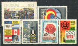 Uruguay 1975 Neuf ** 100% Jeux Olympiques, Bicentenaire, Congrès Mondial - Uruguay
