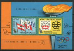Uruguay 1975 Mi. Bl. 25 Bloc Feuillet 100% Neuf ** -Olympique, Jeux Olympiques, - Uruguay
