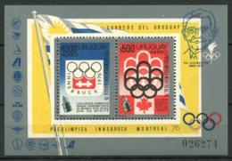 Uruguay 1975 Mi. Bl. 24 Bloc Feuillet 100% Neuf ** -Olympique, Jeux Olympiques, - Uruguay