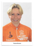 CARTE CYCLISME YVONNE BRUNEN TEAM WOMENS RABOBANK 1997 - Cyclisme