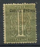 L'Érythrée 1893 Sass. 1 Neuf * 40% Colonie Italienne--1C. - Erythrée