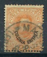 L'Érythrée 1893 Sass. 5 Oblitéré 20% 20C, Colonies Italiennes - Erythrée