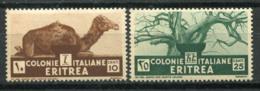L'Érythrée 1933 Sass. 205, 207 Neuf ** 100% 10 C, 25 C. - Erythrée