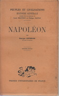 Livre NAPOLEON Par Georges LEFEBVRE - Presses Universitaires De France 1947 - Histoire