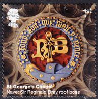 2017 Windsor Castle (2nd Series) - St George's Chapel - Nave: Sir Reginald Bray Roof Boss  1st Class Stamp SG3928 - 1952-.... (Elizabeth II)