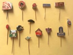 EPINGLETTE PIN'S AIGUILLE EUROPE DE L'EST - LOT DE 14 EPINGLETTES - Autres Collections