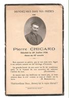 Pierre Chicard - Décédé 1936 - Obituary Notices
