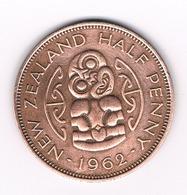 HALF PENNY 1962  NIEUW ZEELAND //4053/ - Nouvelle-Zélande