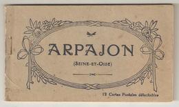 CPA 91 ARPAJON Carnet Complet De 12 Vues (pavillon Chinois, Hôtel De Ville, Cordonneries, Halles, Grande Rue... - Arpajon