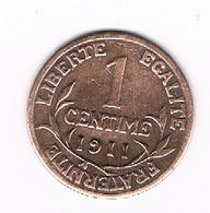 1 CENTIME 1911   FRANKRIJK/4054/ - A. 1 Centime