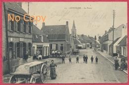 """Ghyvelde Dépt. Nord : La Poste - Rue Animée  / Cachet Militaire Allemand Guerre 1914-18 """" Felpost Inft. Division """" - Autres Communes"""