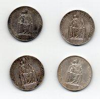 Vaticano -  Lotto 4 Monete Da 10 Lire (1 Del 1934 E 3 Del 1936) - Papa Pio XI° - Argento - Vedi Foto - (MW2377) - Vatican