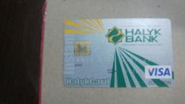 Kazakhstan-(486)-credit Card-(2572-368)-used Card+1card Prepiad Free - Geldkarten (Ablauf Min. 10 Jahre)