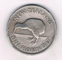 1 FLORIN 1947 NIEUW ZEELAND /4059/ - Nouvelle-Zélande