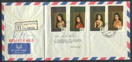 Thaïlande 1968 Mi. 529-532 Enveloppe 100% Oblitéré Recommandé, La Reine Sirikit - Thaïlande
