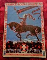 CALENDRIER 1947 SCOUTISME SCOUTS DE FRANCE JAMBOREE MONDIAL DE LA PAIX-BOY-SCOUT FRANÇAIS Illustrations-Doc Historique - Scouting