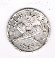 3 PENCE 1944  NIEUW ZEELAND /4060/ - Nouvelle-Zélande