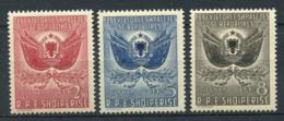 Albanie 1951 Mi. 500-502 Neuf ** 100% Coat Of Arms - Albanie