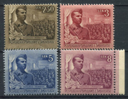 Albanie 1951 Mi. 506-509 Neuf ** 100% Hoxha, Indépendance - Albanie