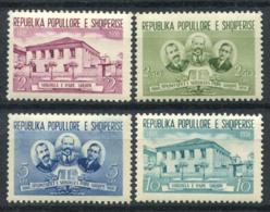 Albanie 1956 Mi. 539-542 Neuf ** 100% École - Albanie