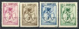 Albanie 1957 Mi. 553-556 Neuf ** 100% Indépendance, Soldat - Albanie