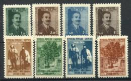 Albanie 1957 Mi. 560-567 Neuf ** 100% Gurakuqi, Mashkullore - Albanie
