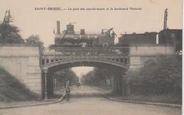 CPA Saint-Brieuc - Le Pont Des Sourds-muets Et Le Boulevard National (avec Train En Beau Plan) - Saint-Brieuc