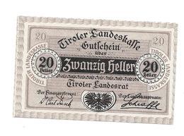 **notgeld Tirol 20 Heller 1073/2 - Austria