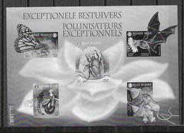 België 2019  Zwart Wit Velletje Bestuivers - Feuillets Noir & Blanc