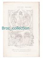 Jugement Dernier, Vignette Du Bréviaire De Saint Denis, XIIIe S., Gravure D'Augustin François Lemaître, Vernier, N° 333 - Images Religieuses