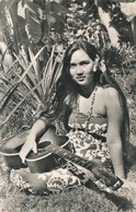 CPSM : Tahitienne à La Guitare - Océanie