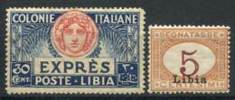 Libye 1915 Sass. 1, 3 Neuf ** 40% Cast, Affranchissement-cotisations - Libye