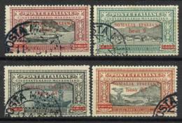 La Somalie 1924 Sass. 55-58 Oblitéré 100% Cachet De La Poste, Manzoni - Somalie