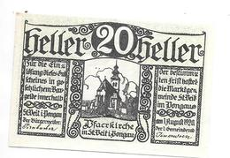 **notgeld St Veit I Pongau  20 Heller - Austria