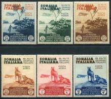 La Somalie 1934 Sass. A1-A6 Neuf * 40% Exposition Internationale D'art Colonial - Somalie
