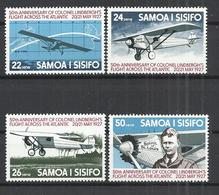 SAMOA AND SISIFO 1977 - C.LINDBERGH SOLO TRANSATLANTIC FLIGHT - CPL.SET - MNH MINT NEUF NUEVO - Samoa