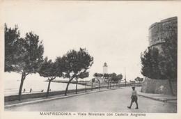 MANFREDONIA - VIALE MIRAMARE CON CASTELLO ANGIOINO - Manfredonia