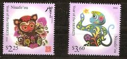 Tonga Niuafo'ou 2015 Yvertn° 402-403 *** MNH Cote 13,50 Euro Faune Année Du Singe Jaar Van De Aap - Tonga (1970-...)