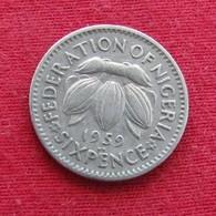 Nigeria 6 Six Pence 1959 KM# 4 *V2 - Nigeria