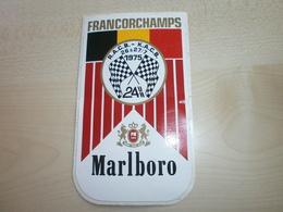 AUTOCOLLANT FRANCORCHAMPS 1975   MALBORO - Vignettes Autocollantes