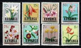 Katanga 1960 OBP/COB 25/28*, 30*, 35*, 37/38* MH (2 Scans) - Katanga